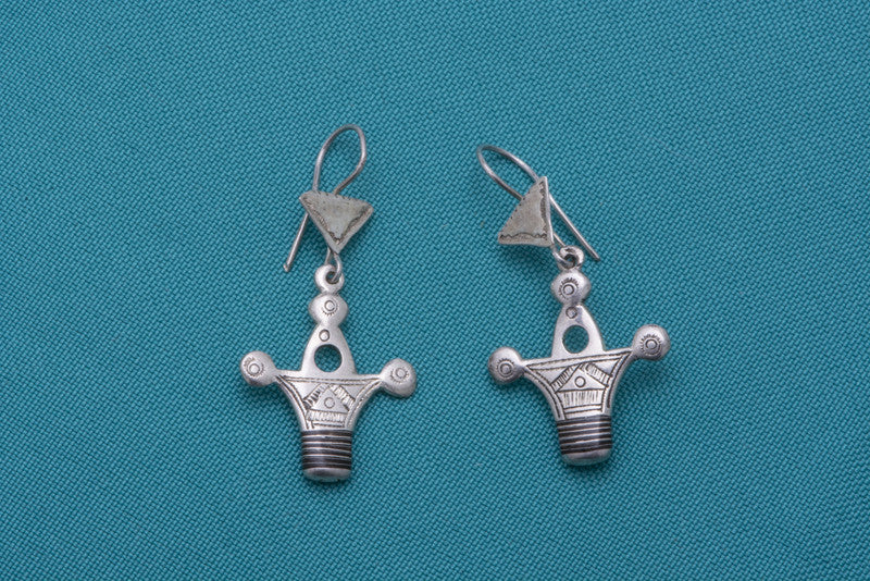 Silver Cross of Agadez Earrings