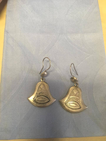 Engraved Bell Drop Earrings