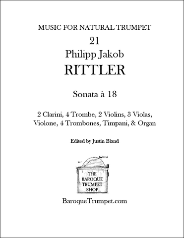 Rittler - Sonata à 18 - Digital Download