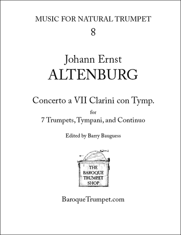 Johann Ernst Altenburg Concerto for 7 Trumpets - Digital Download