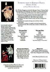 Introduction to Baroque Dance - Dance Types - Volume 1 - Digital Download