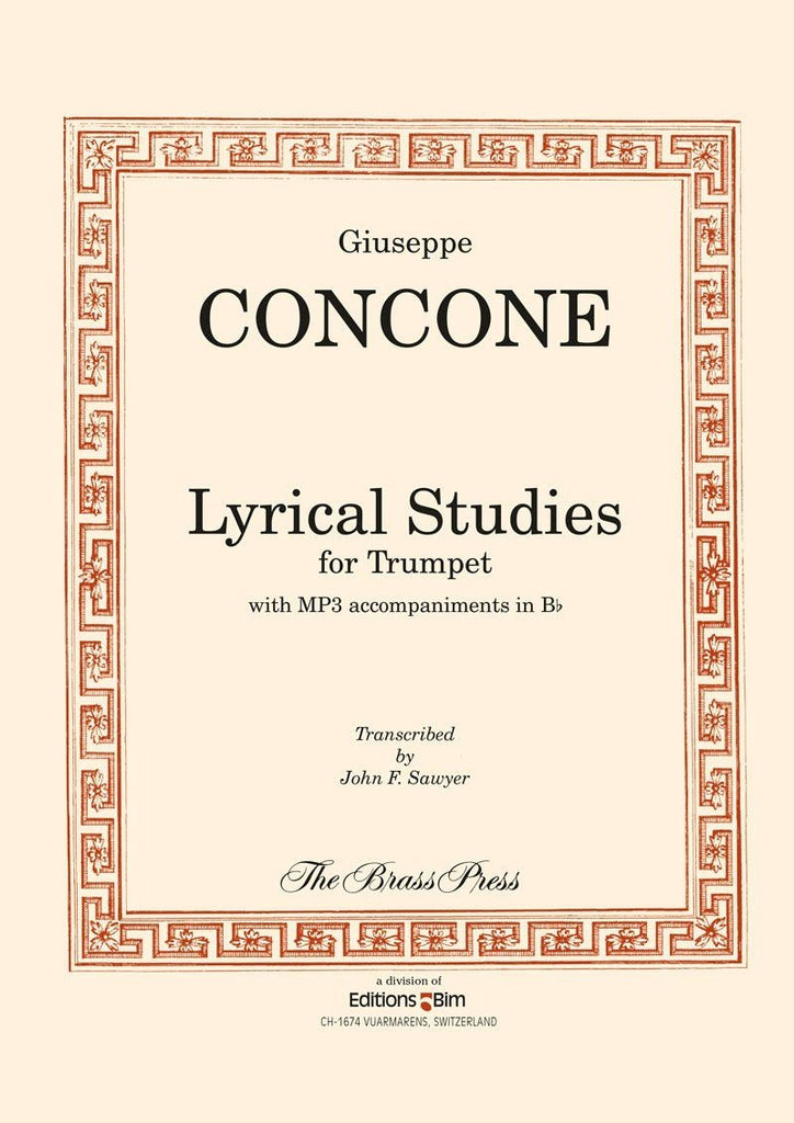 Concone - Lyrical Studies for Trumpet