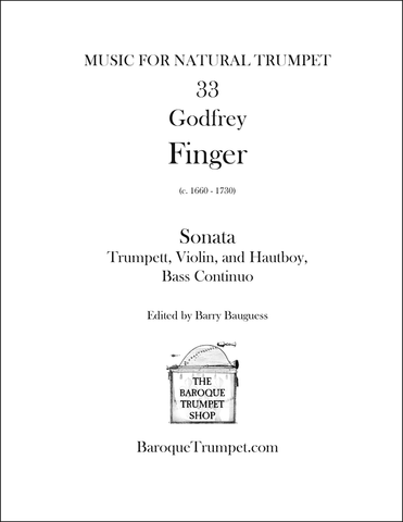 Godfrey Finger - Sonata in C for Trumpett, Violin, Hautboy, & Bass Continuo