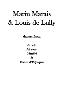 Marin Marais & Louis de Lully • Digital Download