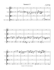 Johann Heinrich Schmelzer - Sonata à 3 - Digital Download