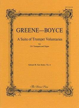 Greene & Boyce, A Suite of Trumpet Voluntaries in D for Two Trumpets and Organ