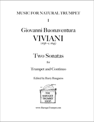 Viviani Two Sonatas Modern Edition - Digital Download