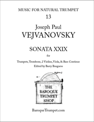 Vejvanovsky Sonata XXIX - Digital Download