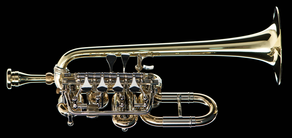A Bb Rotary Piccolo Frei X on Rotary Valve Trumpet