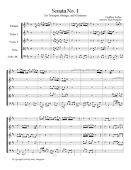 Gottfried Keller - Sonata 1 for Trumpet, 2 Violins, Violin, and Bass Continuo