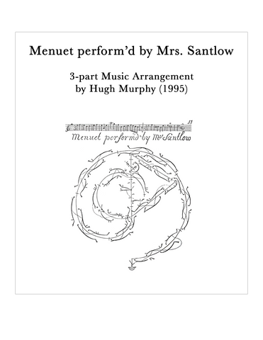 Menuet perform'd by Mrs. Santlow - Arrangement by Hugh Murphy - Digital Download