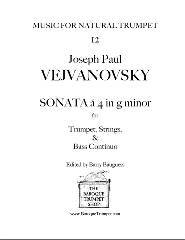 Vejvanovsky - Sonata à 4 in g minor - Digital Download