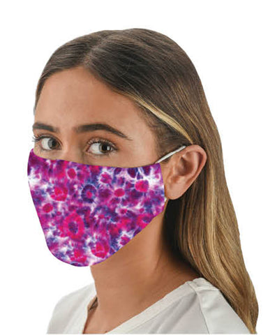 Tie Dye Adjustable Face Mask With Filter