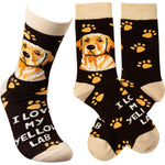 I Love My Yellow Lab Sock