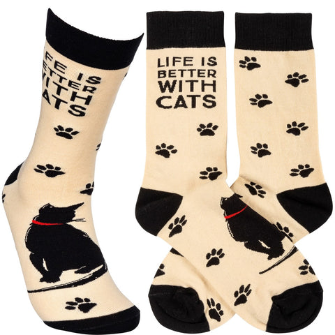 Life is Better With Cats Socks