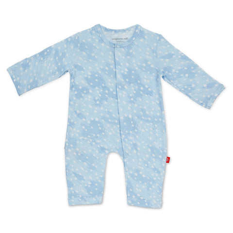Blue Doeskin Modal Magnetic Coverall