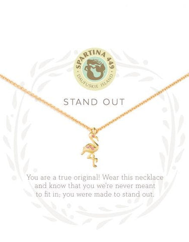 """Stand Out"" Flamingo Necklace"