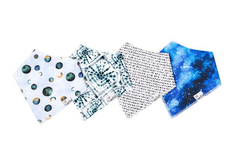 Galaxy Baby Bandana Bib Set of 4