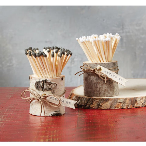 Matches in Wood Pots Assorted