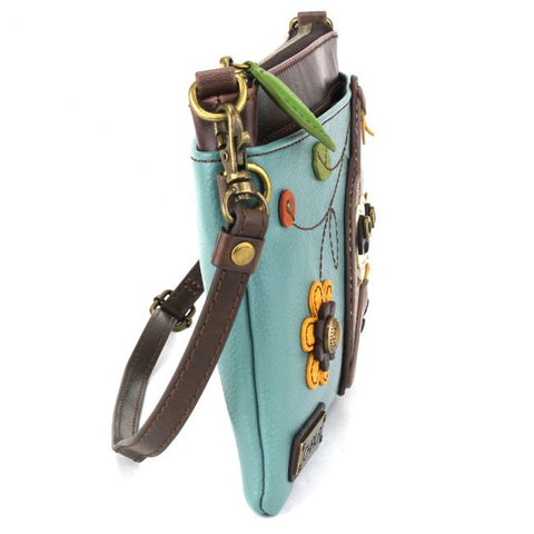 Teal Sloth Crossbody Purse