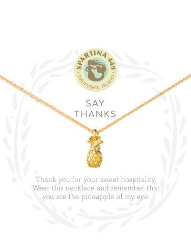 """Say Thanks"" Pineapple Necklace"