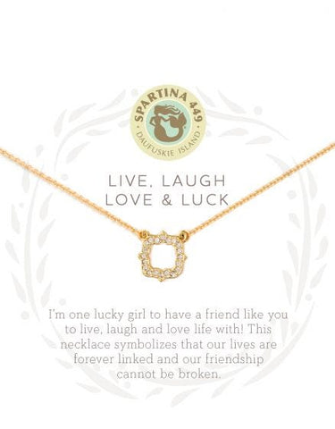 Live, Laugh, Love & Luck Necklace