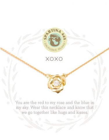 XOXO Rose Necklace