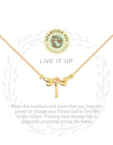 """Live it up"" Dragonfly Necklace"