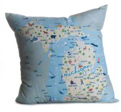 Original Michigan Square Pillow