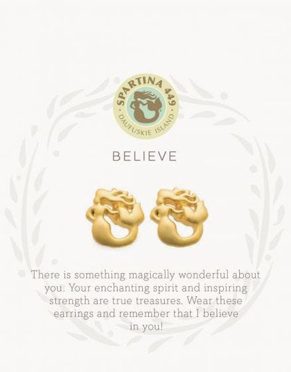 """Believe"" Mermaid Stud Earrings"