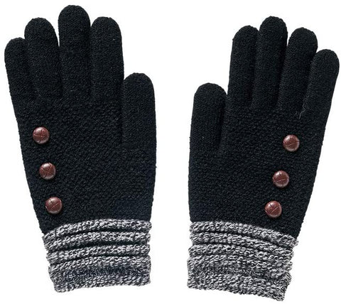 Black Button Glove