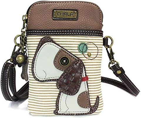 Dog Stripe Cell Phone Crossbody Purse