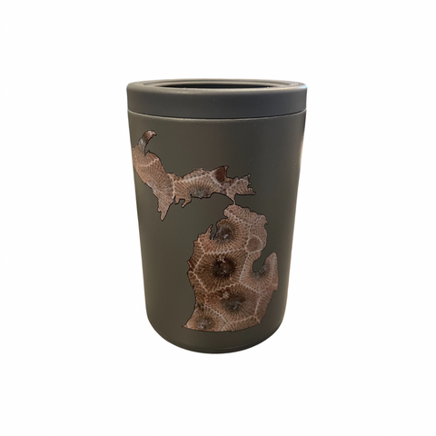 Petoskey Stone Gray Combo Can Cooler