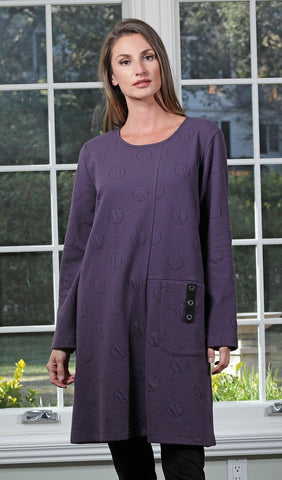 Purple Dot Tunic Dress
