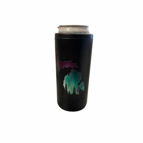 Northern Lights Black Skinny Can Cooler