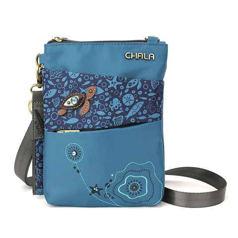 Turtle Nylon Cellphone Crossbody Purse