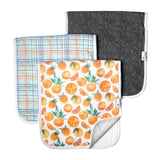 Citrus Burp Cloth Set of 3