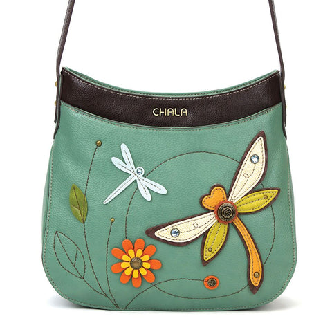 Dragonfly Crescent Crossbody Bag