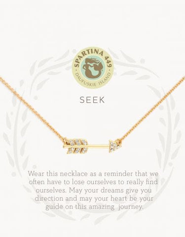 """Seek"" Arrow Necklace"