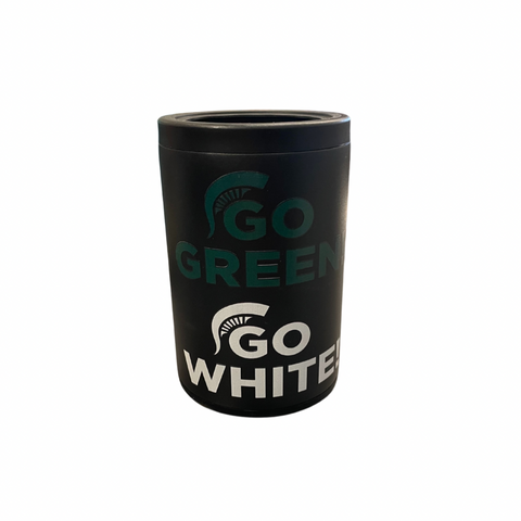 Go Green Go White Black Combo Can Cooler
