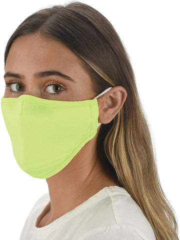 Solid Lime Adjustable Face Mask With Filter