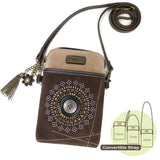 Starburst Dazzled Brown Phone Crossbody