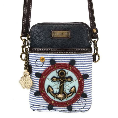 Anchor Cell Phone Crossbody Purse