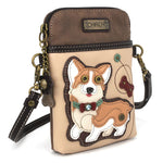 Ivory Corgi Cellphone Crossbody Purse