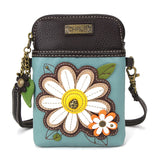 While Flower Cellphone Crossbody Purse