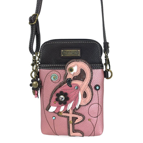 Pink Flamingo Cellphone Crossbody Purse