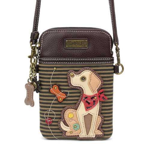 Yellow Lab Cellphone Crossbody Purse
