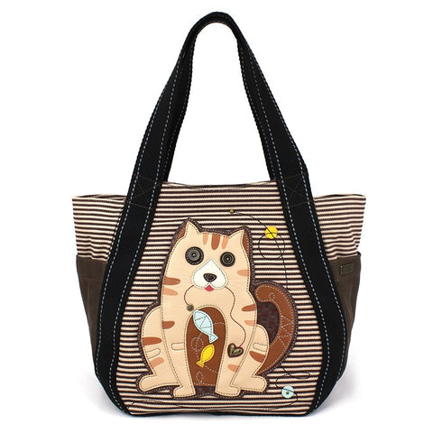 Tabby Cat Zip Carryall Tote Bag