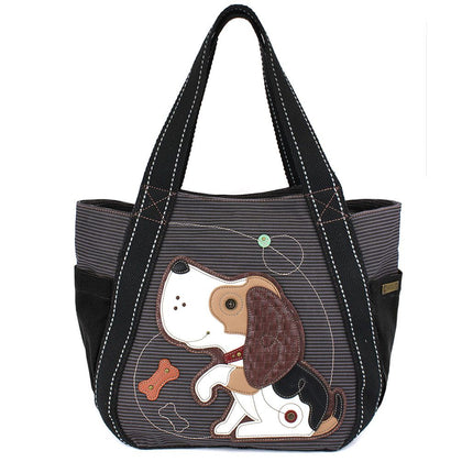 Blue Beagle Zip Carryall Tote Bag