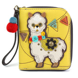 Yellow Llama Zip Around Wallet